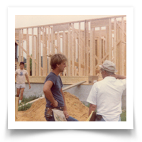 A young Brian Lessard hard at work and eager to learn on the job site.